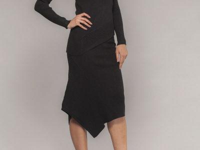 EW19060 pullover + EW19061 skirt (charcoal)